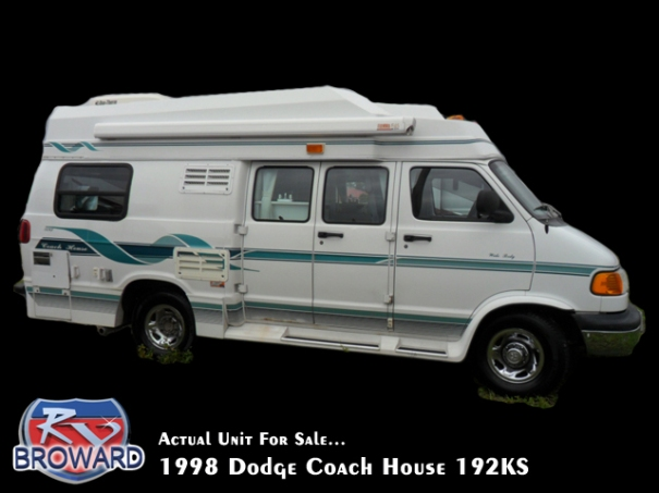 1998 Dodge Coach House 192KS Motor Home Class B Wide Body
