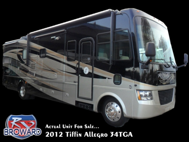 2012 Tiffin Allegro 34TGA Class A Motor Home for Sale!