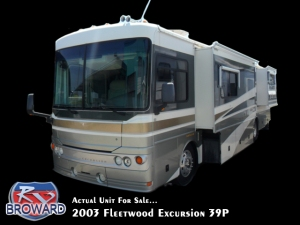 2003 fleetwood Excursion 39P Class A Diesel Pusher Motor Home